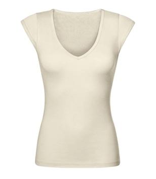 Frauen Shirt mit tiefem V-Neck
