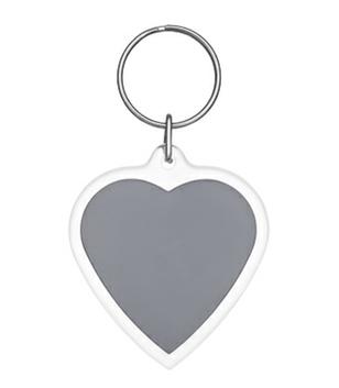 Plastik Schlüsselanhänger in Herzform