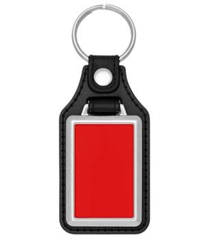Metall - Schlüsselanhänger mit Kunstleder