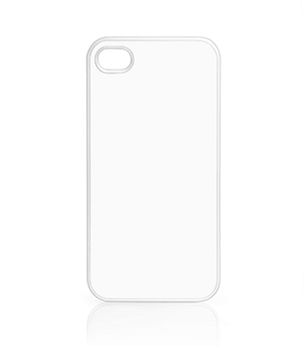 Case für iPhone 4, 4S, mit weißem Rand